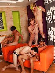 Male masturbation groups and mature gay groups at Crazy Party Boys