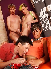 Gay group cock sucking and group old guys at Crazy Party Boys