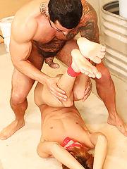 Straight men in underwear sex movies and licking armpit gay fetish at Bang Me Sugar Daddy