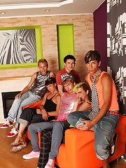 Pics gay sex group action and group gay porn fucking at Crazy Party Boys