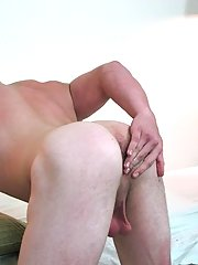 Placing his hands on his back he would propel his hips forward and pounded that ass like he knew what he was doing gay his first biggest cock