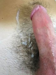 As he came, his load went clear up passed his nipples in the center of his chest gay mad group sex