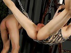 Leather male bondage and free...