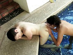 """"""" Hungry bottom Jesse is quick to eager, clinging to the edge of the pool as Jacob shoves his cock up his ass cubs first gay handjob at Boy Crush"""
