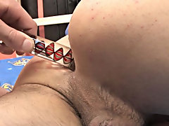 Andy Kay seems to be in control at first in this sexy duo, using a sex toy on Brandon's taut ass before pounding it hard gay college boy models E