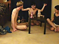"""Trace and William get together with their fresh friend Austin for the second installment of """"game night twinks with hard cocks gay - at Boy Feast"""