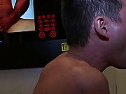 Gay athletic blowjob and twink deep blowjob jizz