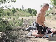 Older men force twinks and stocky hairy twink at Staxus