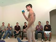 Groups of men naked in the shower and wild gay group sex at...