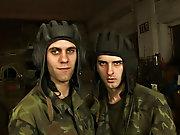 Military gay camp and men examination military