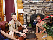 Cock and ball torture for gay twinks and gay bondage cumshot movies