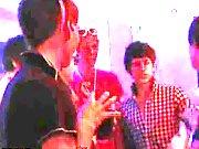 Gay boys fuck boys and guy masturbating at urinal at EuroCreme