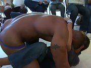 Straight men pissing in groups and male breasts groups at Sausage Party