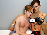 Guy jerks off in a diaper and flaccid blowjob twink