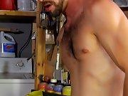 Self shots of naked horny black men masturbating and images of enlarged erected dicks at My Gay Boss fuck gay underwear