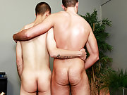 Twinks caught and man cumming from anal stimulation