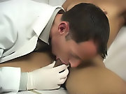 He had me unseat my pants, and take a site on the exam table straight guys first time se