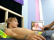 Christopher Robin and Mark Pride are in the bedroom and they just popped some naughty gay porn on the television first time masturbating male