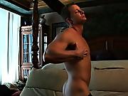 Hot guy, strong muscles, upper case cock and an wondrous pop hunk sexy man muscle boys wank each other till cum