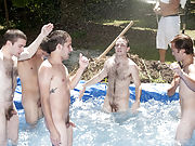 I mean its not embarrassing enough playing naked in a nasty fake pool pics gay sex group action