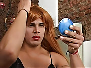 On fitting his long-haired wig Rodolfo gets all-hot-and-bothered ready to polish his joy knob males masturbation aids